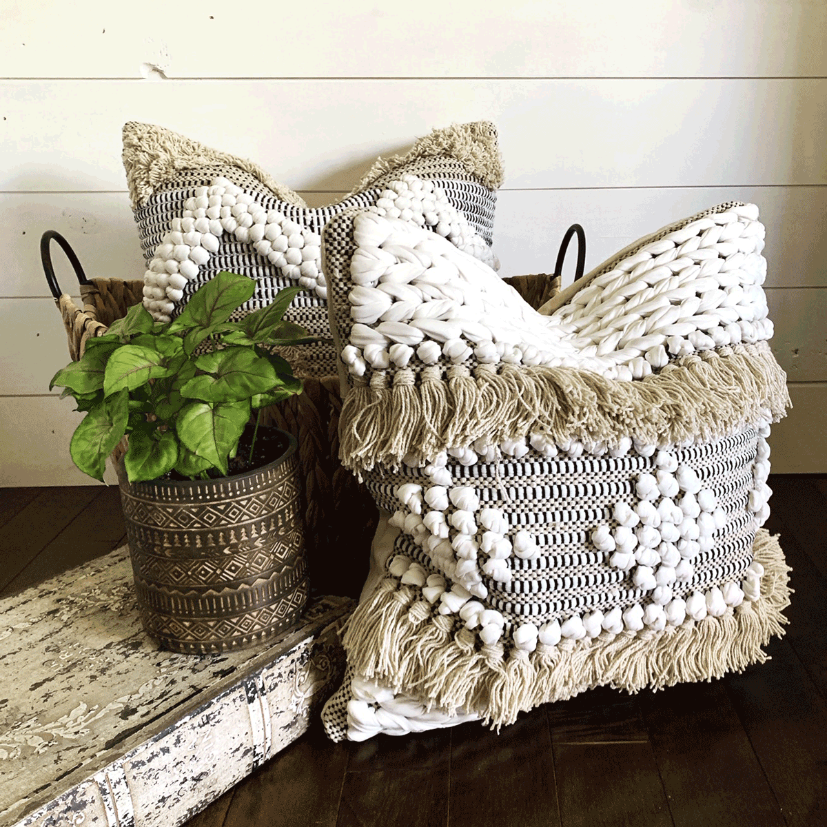 busa designs boho chic style accent pillows