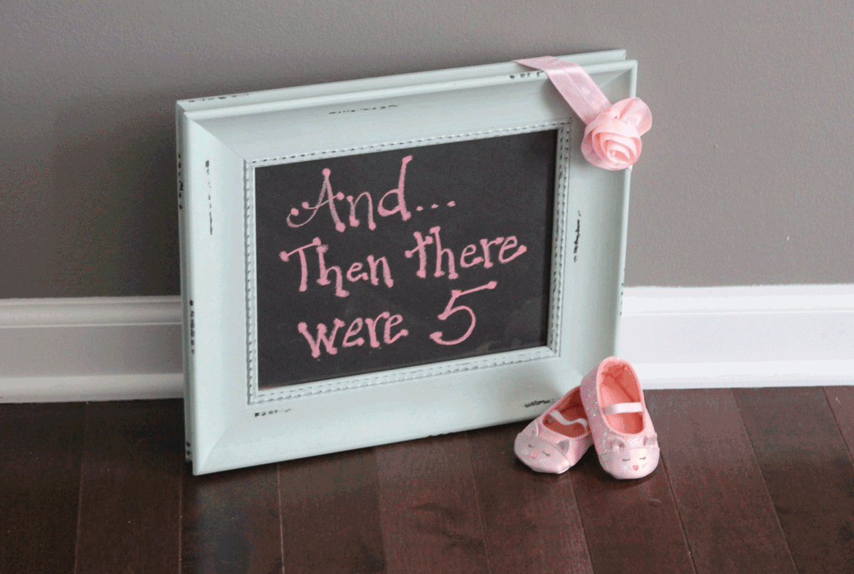 gender reveal sign for baby girl announcement