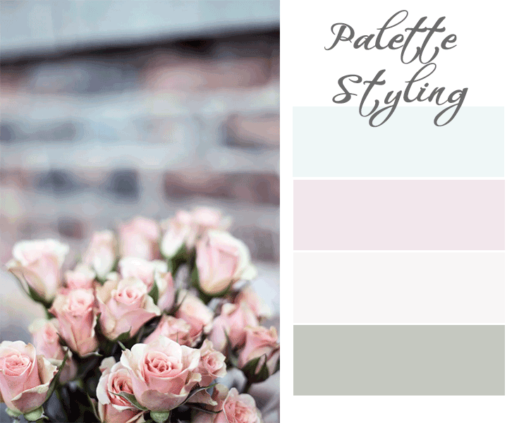 pink aqua palette for decorating a nursery for a baby girl