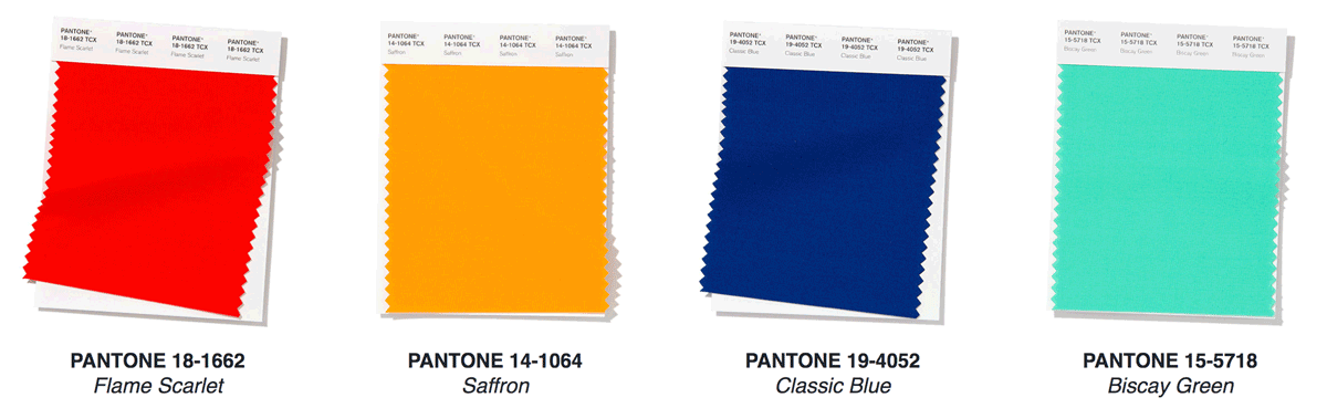 color of the year pantone palette choices