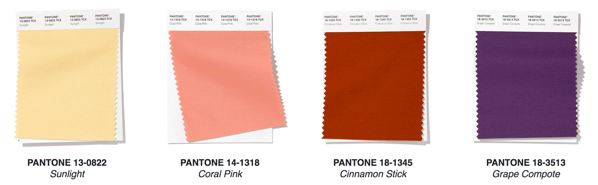 color of the year pantone palette pinks purple