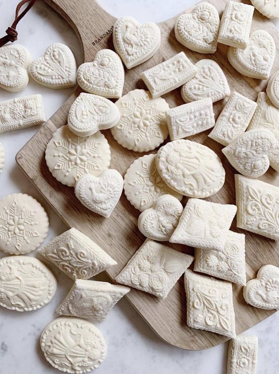 springerle cookies for valentines decor inspiration