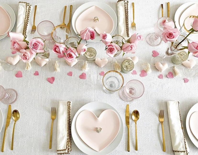valentine's decor inspiration tablescape for valentine's day