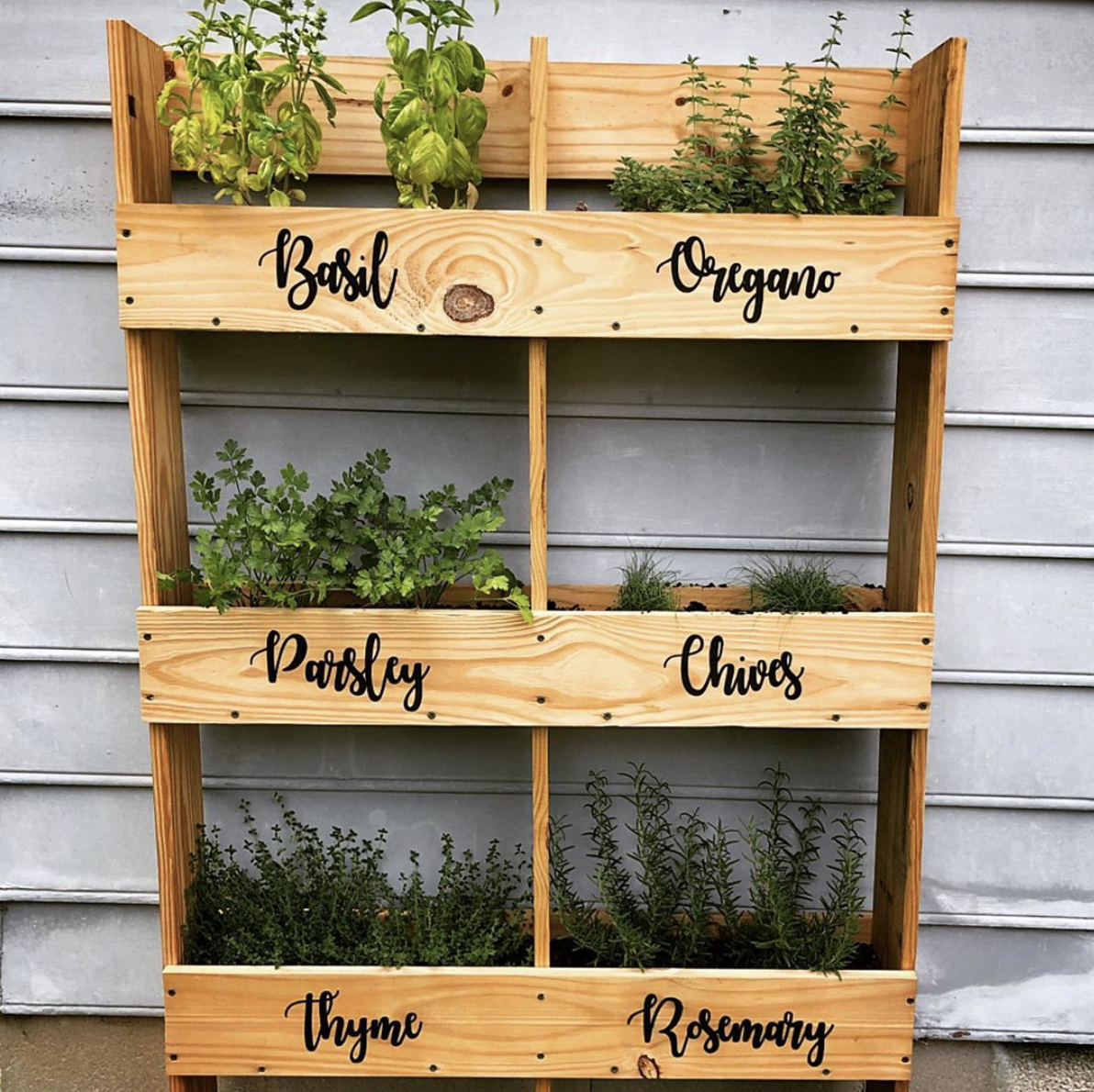 vertical herb planter boxes