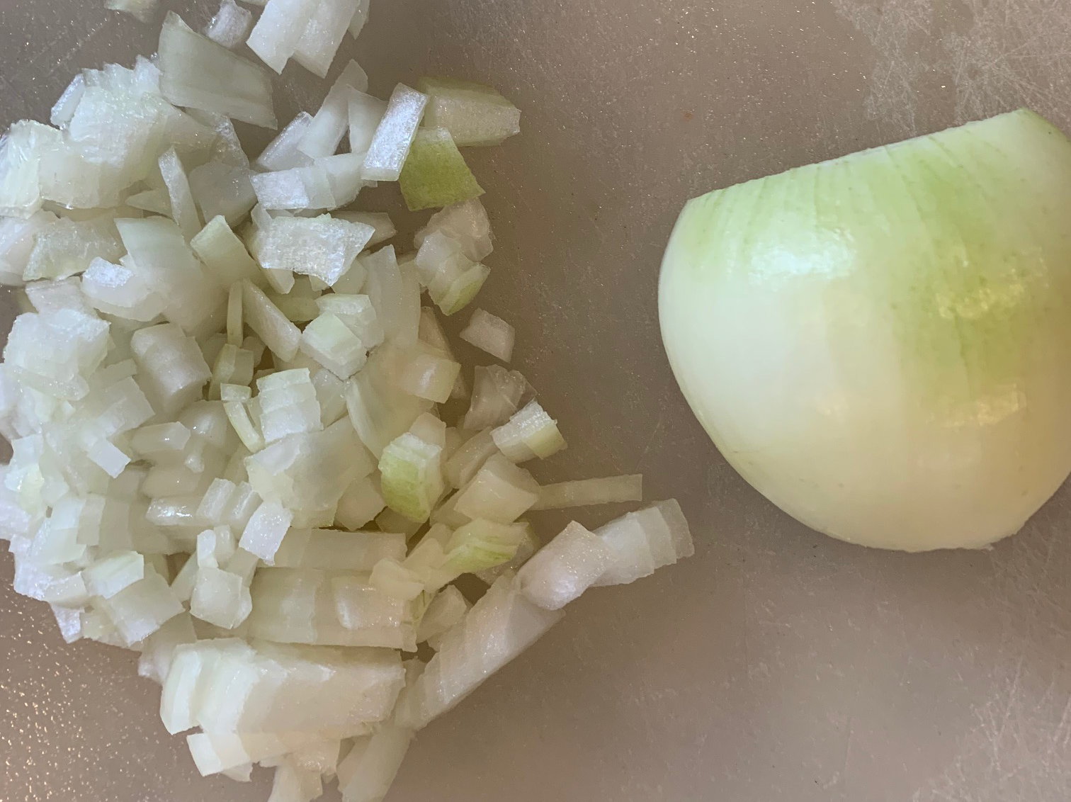 chopped onion for recipe