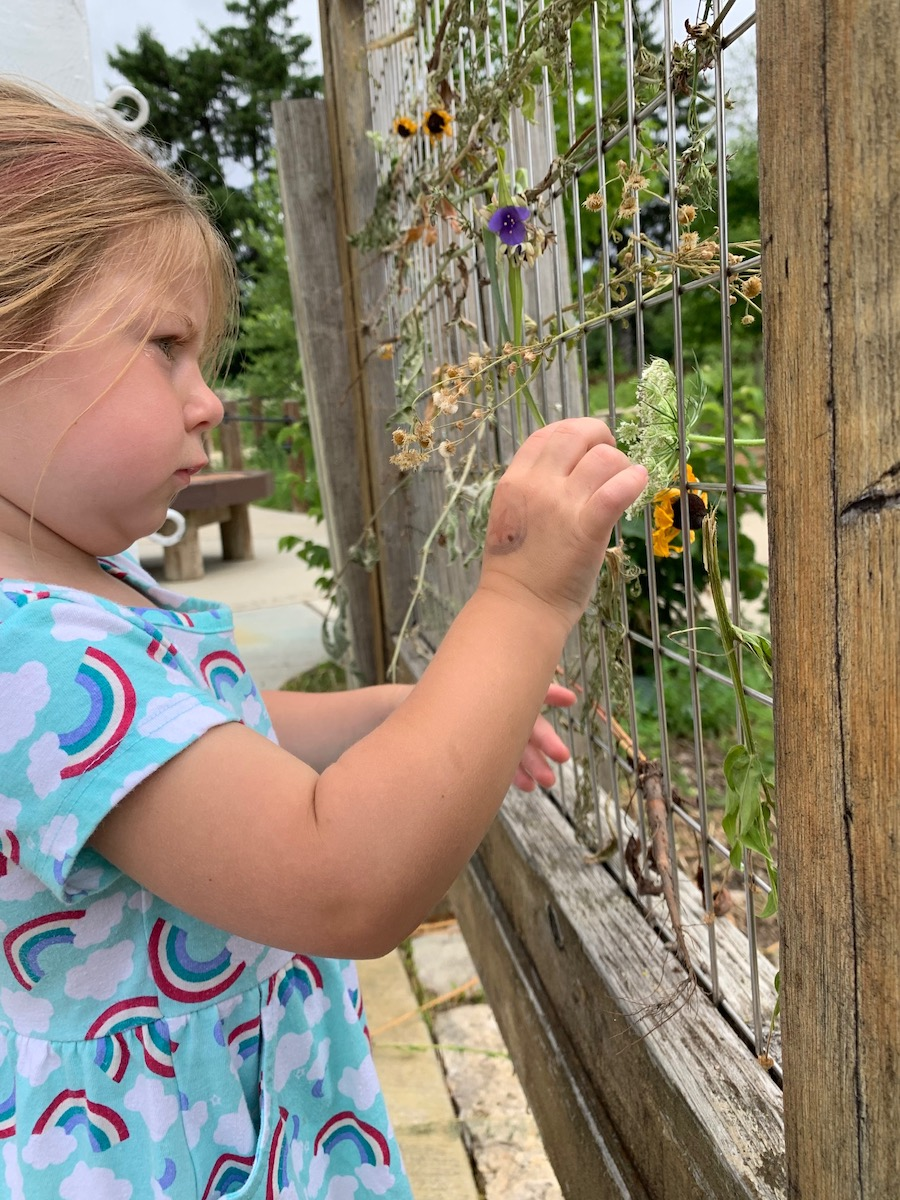 flower art for kids at bisons bluff playground