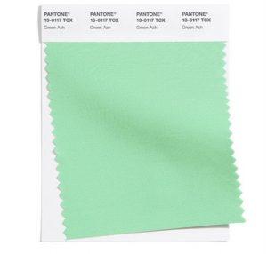 green ash swatch pantone palette