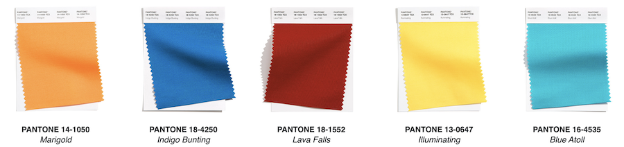 London Fashion Week 2021 pantone swatches