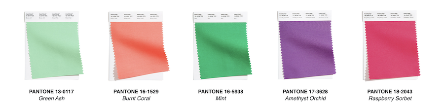 the pantone color palette for 2021