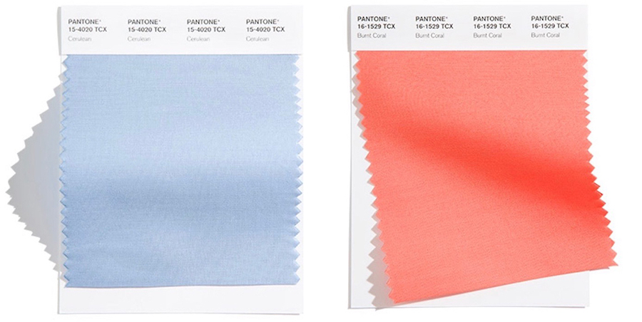 blue and orange classic color pairing swatches