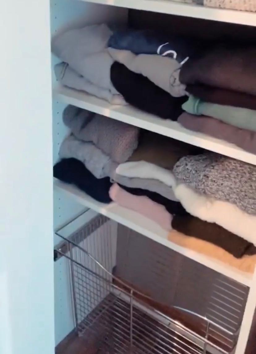 dakota closet system installs with extra shelving