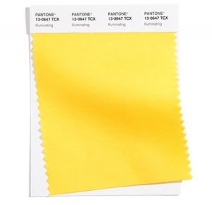 illuminating yellow color swatch from pantone