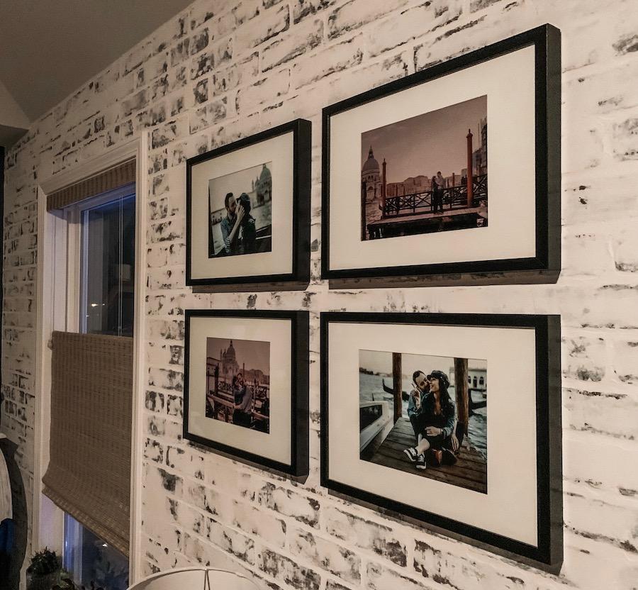 black frames gallery wall