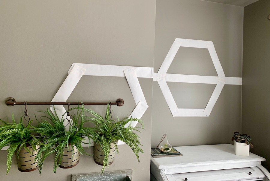 paper plan for honeycomb shelves wall