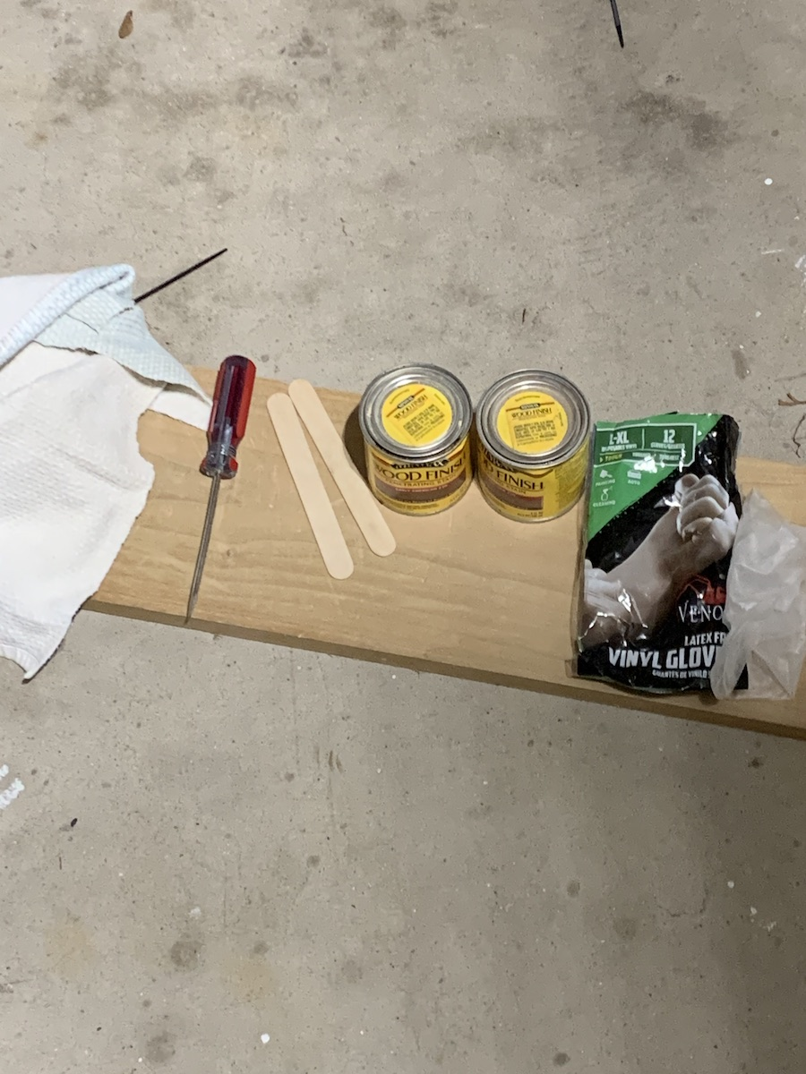 wood staining supplies