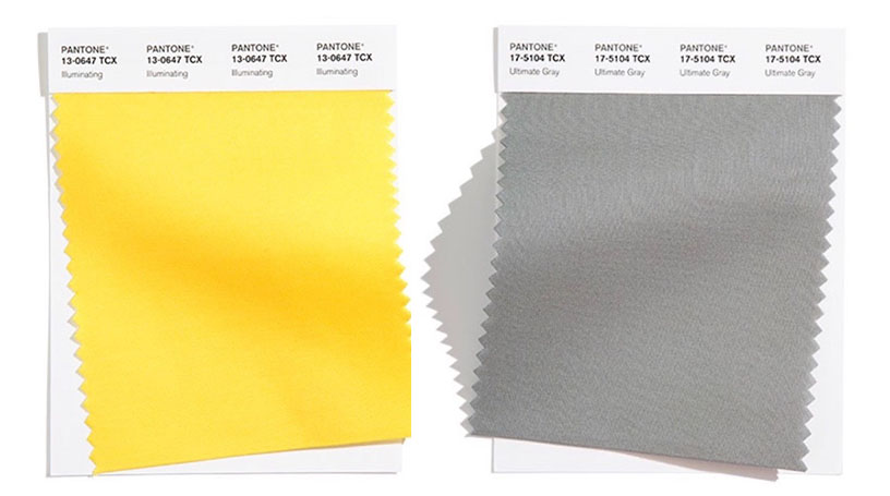 illuminating and ultimate gray pantone color of the year 2021 yellow and gray