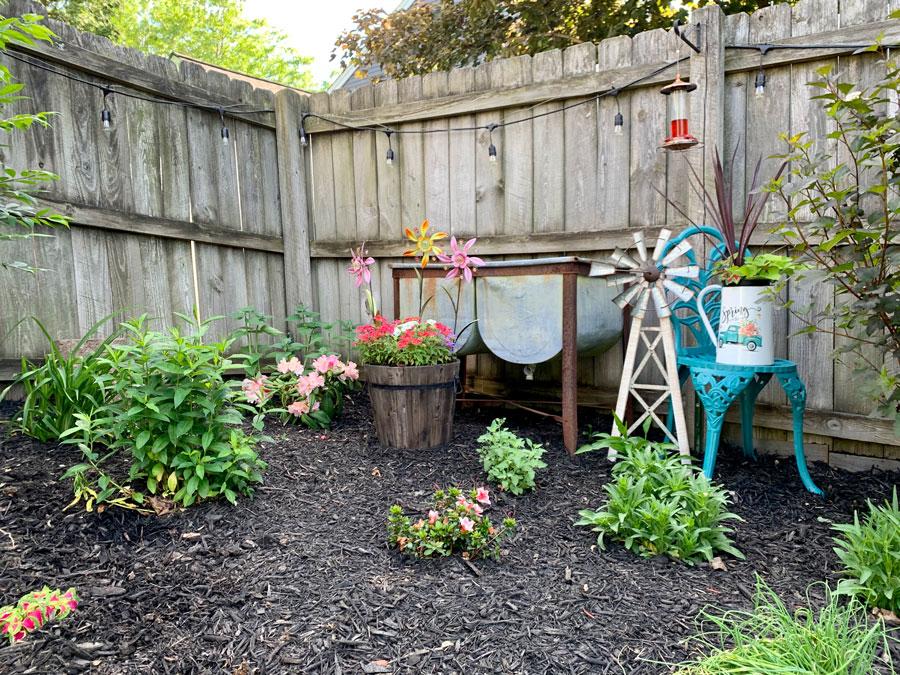 blooming corner garden