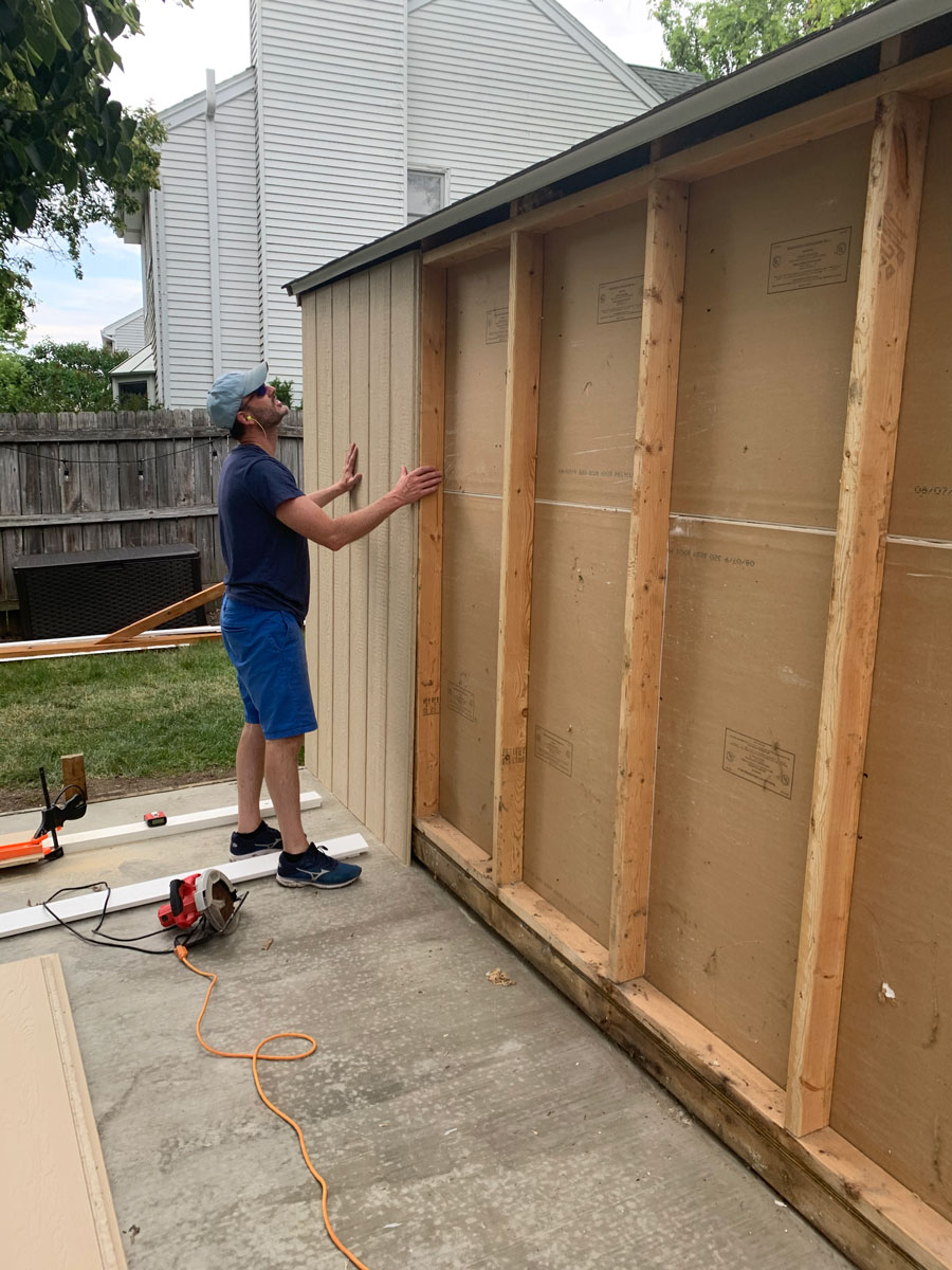dry fit shed paneling to replace shed walls