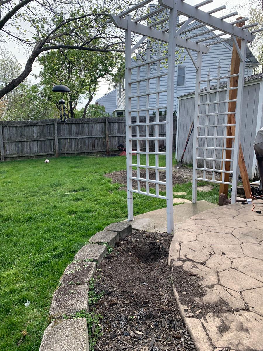 trellis for patio entry