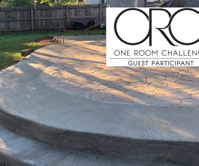 patio extension project for stamped concrete