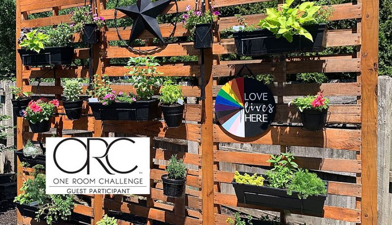 moving the vertical garden for the backyard makeover