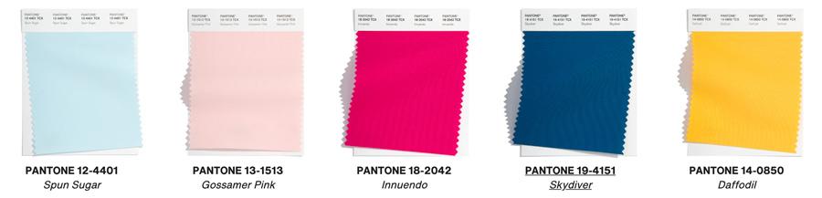 pantone palette 2022 bright color swatches