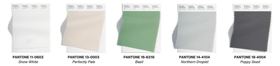 pantone palette 2022 neutral color swatches