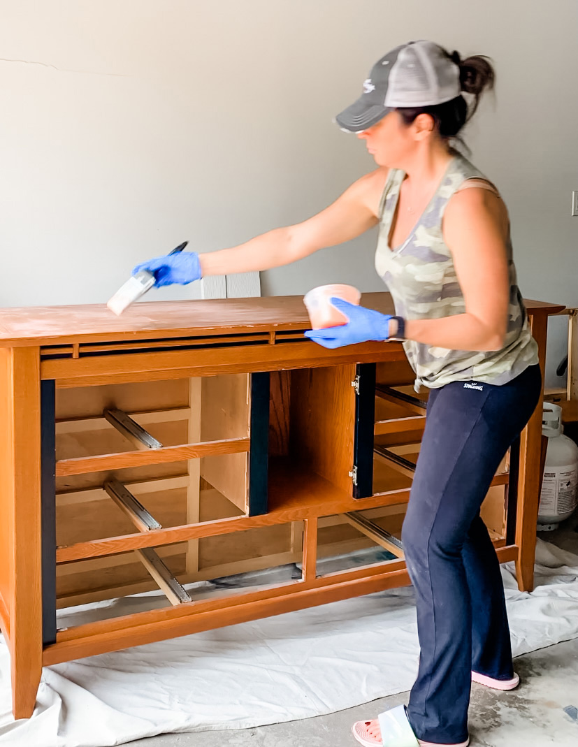 painting citristrip on an old dresser