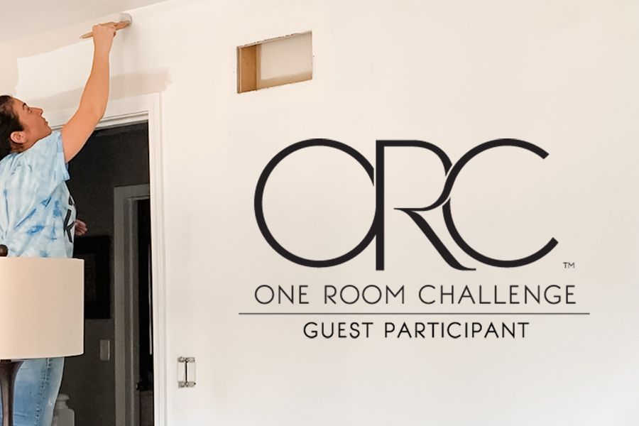 painting over blue walls for the one room challenge